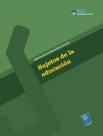 Sujetos de la educación - Repositorio Institucional del Ministerio de ...