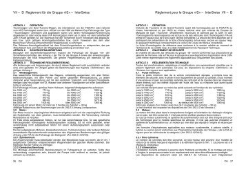 Reglement Gruppe (IS) InterSwiss 2011