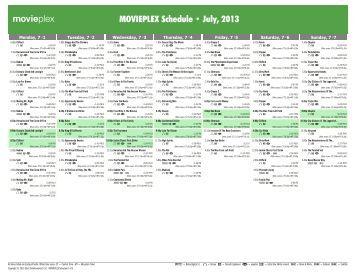 movieplex schedule march 2013 starz