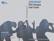 Shure PGX Wireless User Guide Korean - Canford Audio
