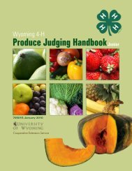 Produce Judging Handbook - University of Wyoming