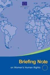 Briefing Note women.vp - Capacity4Dev - Europa