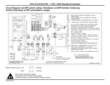 DTS 3141/3161/3181 – 115V / 230V Standard ... - Pfannenberg