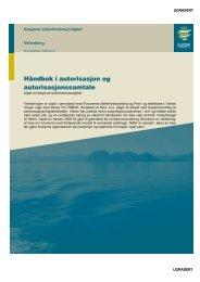 HÃ¥ndbok i autorisasjon og autorisasjonssamtale - NSM