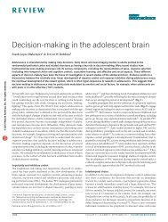 Decision-making in the adolescent brain