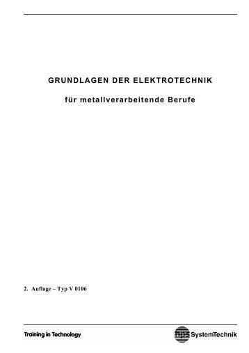 GRUNDLAGEN DER ELEKTROTECHNIK für metallverarbeitende ...