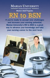 MAP RN to BSN Brochure - Marian University
