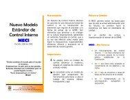 Nuevo Modelo Estándar de Control Interno MECI - Unidad de ...