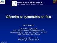 Sécurité et cytométrie en flux - incommet