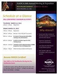 Schedule at a Glance - NADCA