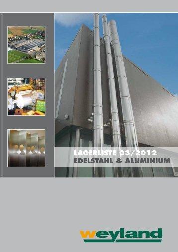 Niro Lagerliste 03/2012 - Weyland GmbH