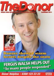 The Donor – Summer 2011 - Give Blood