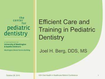 Conference PPT (2 MB) - Institute for Oral Health