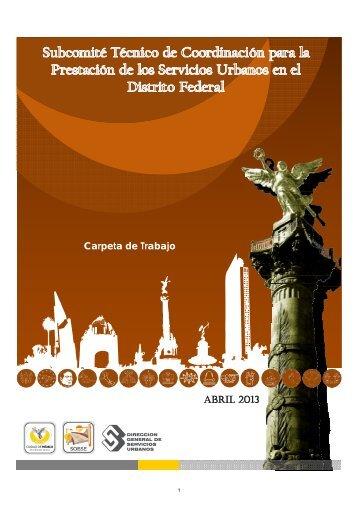 Carpeta de Trabajo ABRIL 2013 - Secretaria de Obras y Servicios