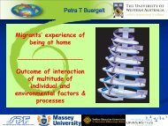experience of being at home - Integration of Immigrants Programme