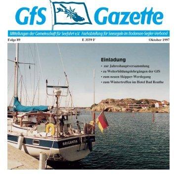 Gaz. 89 - Hochseesegeln mit der GfS