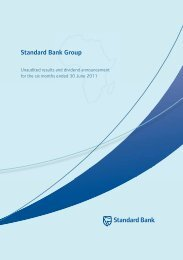 Standard Bank Group - Standard Bank - Investor Relations