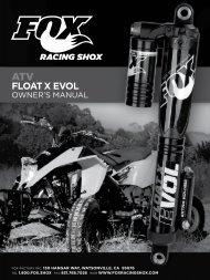 FlOAT X eVOl Owner's Manual - Fox