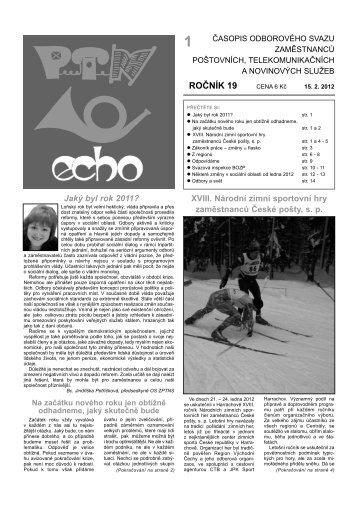 číslo 1/2012 - Odborový svaz zaměstnanců poštovních ...