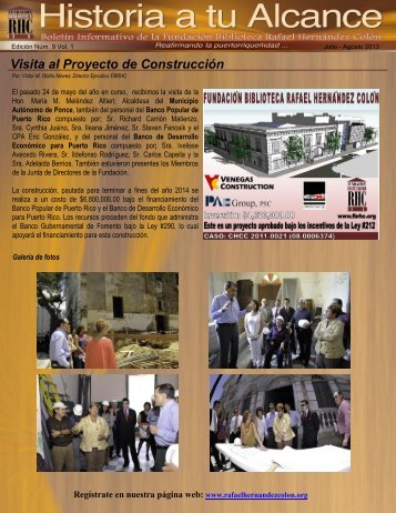 Boletín Informativo Edición Núm. 6 Vol. 1 - Julio a Agosto 2013