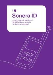 Palvelukuvaus ja käyttöohje (pdf) - Sonera
