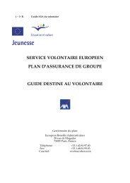 service volontaire europeen plan d'assurance de groupe ... - Injep