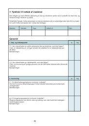 Tjekliste til indkøb af maskiner - download separat - pdf-format