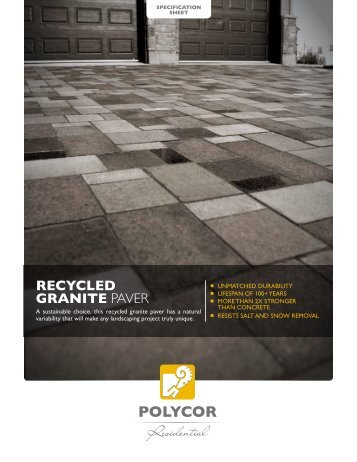 recycled graNIte paver - Polycor