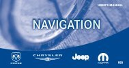 2010 RER Navigation System User's Manual - Chrysler