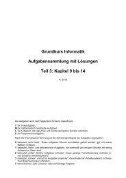 Grundkurs Informatik Aufgabensammlung mit Lösungen Teil 3