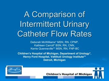 A Comparison of Intermittent Urinary Catheter Flow Rates - IUPUI