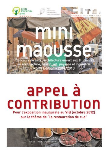 Appel à contribution (pdf) - VIA