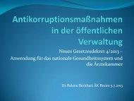 Antikorruptionsmaßnahmen in Italien - Dr ... - Ordinemedici.bz.it