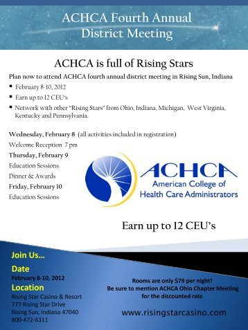 ACHCA Fourth Annual District Meeting