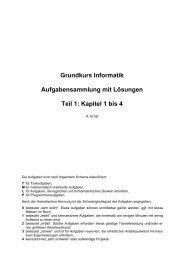 Grundkurs Informatik Aufgabensammlung mit Lösungen Teil 1