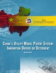 China's Utility Model Patent System - US Chamber of Commerce