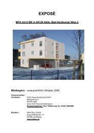 EXPOSÈ MFH mit 6 WE in 06120 Halle, Bad ... - K & W Bau GmbH