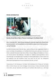 Marie-Therese Unterberg ist Tea Master Gold - Kameha Grand Bonn