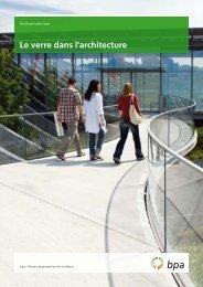 Le verre dans l'architecture - VBSF