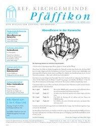 Ausgabe vom 30.3.2012 - Ref. Kirchgemeinde Pfäffikon