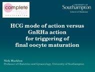 HCG mode of action versus GnRHa action for triggering of ... - eshre