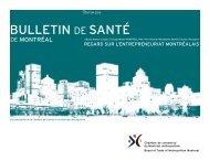 bulletin de santé - Chambre de commerce du Montréal métropolitain