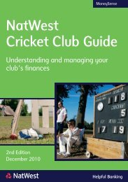 NatWest Cricket Club Guide - Ecb - England and Wales Cricket Board
