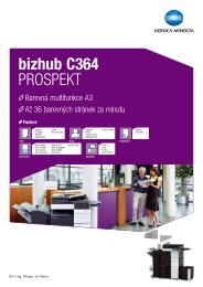 Brožura Konica Minolta bizhub C364 ke stažení ve formátu PDF