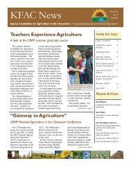 KFAC News - Kansas Foundation for Agriculture in the Classroom
