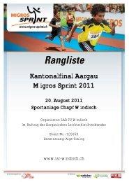 Kantonalfinal Aargau Migros Sprint 2011 - Swiss Athletics Sprint