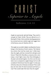 Christ: Superior To Angels
