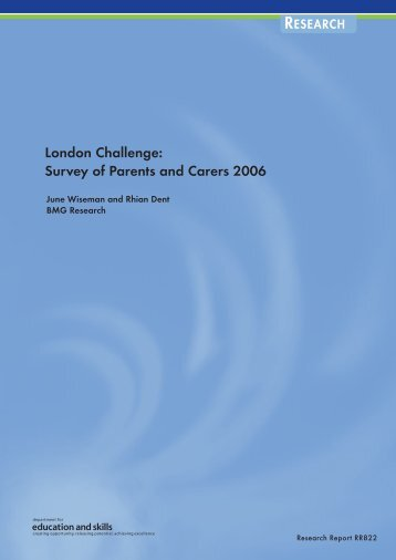 London Challenge: Survey of Parents and Carers 2006