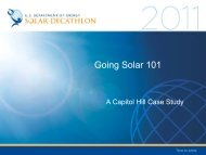 Going Solar 101: A Case Study - Solar Decathlon