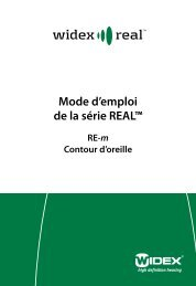 Mode d'emploi de la série REAL™ - Widex